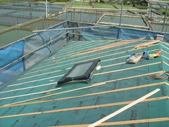 屋根防水シート貼施工