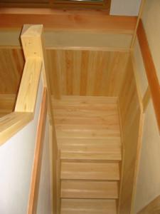 新築の事例 I様邸 階段室